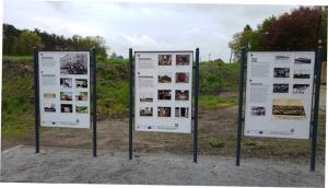 Neue Informationstafeln erzählen die Geschichte der Glasindustrie in Leknica. / New Information Panels tells the story of glass industry in Leknica.